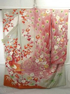 This is a fantastic vintage Furisode for brides.  yuzen
