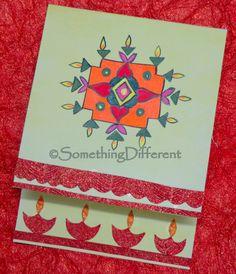 Diwali Greeting card Diwali Greeting Cards, Diwali Greetings, Greeting Cards Handmade, Diwali Festival, Art N Craft, Happy Diwali, Glitter, Frame, Crafts