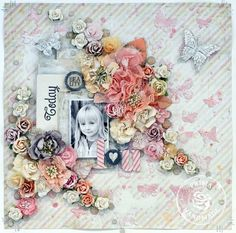 The Sweetest Palette Ever! Gorgeous layout by Lene Bjornerud! #ppp #primachallenges #papercrafting