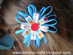 A girl and a glue gun: thin ribbon bows