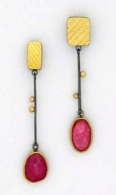 Rose-cut Pink Sapphire earrings - Sydney Lynch