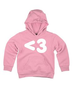 Take a look at this Light Pink Text Heart Hoodie - Toddler & Girls on zulily today!