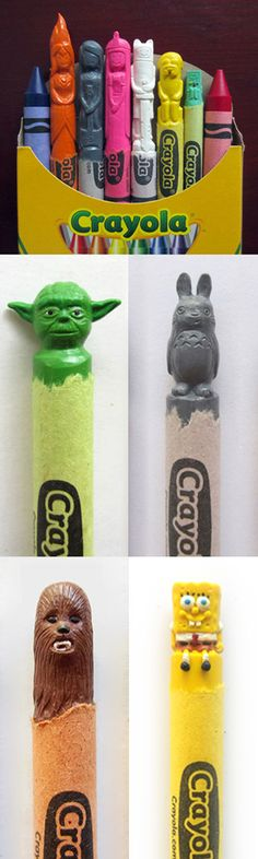Carved Wax Crayons by Hoang Tran