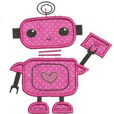 Love Bot Applique 5 x 7