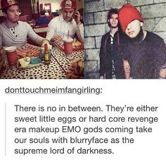 Being a twenty one pilot fan is confusing>> I like blurryface the most ^-^