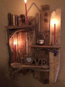 Driftwood Shelves Handmade Unique Shabby Chic driftwood | eBay