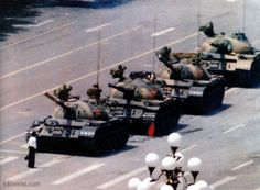 Today is the 24th anniversary of one very brave man Tiananmen Square China 1989