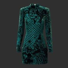 5fdf75101df6f Balmain x H&M Green Silk Velvet Dress SOLD OUT In hand nwt sold out  everywhere Balmain H&M exclusive Authentic comes with collectable hanger  size 4 please ...