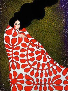 lillebjorn - when the sun rises in the west (by hülya özdemir) Art And Illustration, Illustrations, Painting Inspiration, Art Inspo, Kunst Inspo, Figurative Kunst, Motif Floral, Arte Pop, Portrait Art