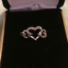 Diamond 3 Heart Ring Three Heart Ring, diamonds Jewelry Rings
