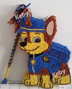 Chase Piñata of the canine patrol or drawing you want, about high. Paw Patrol Birthday Decorations, Paw Patrol Birthday Theme, Diy Birthday Decorations, Boys First Birthday Party Ideas, 3rd Birthday Parties, Birthday Diy, Paw Patrol Pinata, Toy Cars For Kids, Bakery Store