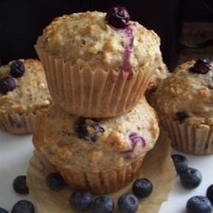Get-Up-and-Go Muffins with Greek Yogurt, Oatmeal, and Blueberries - Allrecipes.com
