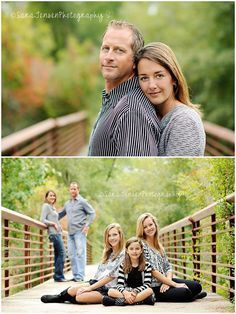 I love the second photo - good posing idea for a family photo session. {Family Photography} {Pose Ideas}