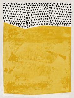 size: Art Print: Mid Century Amber Study by Eline Isaksen : Framed Artwork, Framed Prints, Canvas Prints, Art Prints, Big Canvas, Big Wall Art, Yellow Art, Bedroom Art, Art Studies