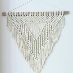 I've been wanting to create a triangular #wallhanger for a long time. Tricky but I think worth the effort. #handmade #homedecor #goldcoast #wallart #macrame #modernmacrame #cotton