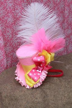Mini Top Hat - ABIGAIL - a Top Hat, Birthday,  Mad Hatter, Circus,  Women, Ladies to Girls -  Photo Prop - Sweet Shoppe Shop. $28.99, via Etsy.