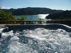 Waimanu Lodge Whangaroa Harbour New Zealand. View from guest spa pool. Harbor View, New Zealand, Spa, River, Outdoor Decor, Nature, Naturaleza, Rivers, Off Grid