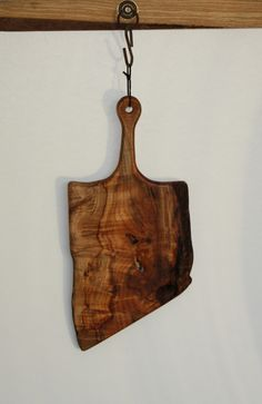 Large Wild Wood Live Edge Serving/Cheese Board with Handle for Hanging by CustomWoodSolutions on Etsy