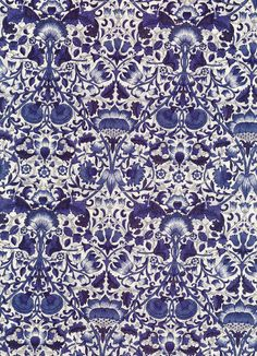 Lodden in Blue liberty tana lawn fabric 6 x 26 by MissElany, $4.10