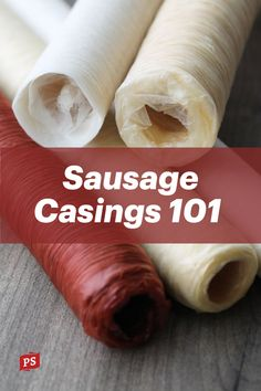 Not sure what sausage casing to use? Learn the basics of natural casings, collagen casings, and fibrous casings and our recommendations by sausage type. Sausage casings ensure your end product is flavorful, processed evenly, and has great texture. #sausagemaking #sausage #homemadesausage #casings #sausagecasings Meat Sandwich, Deli Sandwiches, Liver Sausage, Types Of Sausage, Home Made Sausage, Bratwurst Recipes