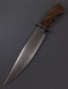 Bowie- W5 with hamon and redwood burl | Mozolič Knives