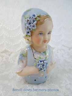 Porcelain Half Doll - Pincushion - Hollie