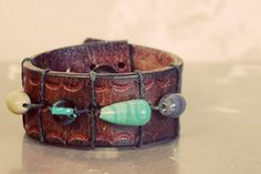 bracelet made from a recycled belt