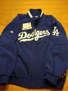 USED Mens Los Angeles Dodgers LA Majestic Therma Base Jacket XXL