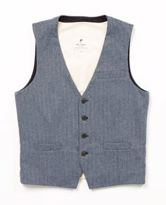 Dove Herringbone Tweed vest by Lee Valley Clothing