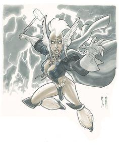 Asgardian Storm by StephaneRoux