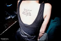 'And in the end the love you take is equal to the love you make' The Beatles tattoo