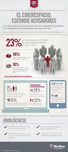 Acosadores en el ciberespacio #infografia #infographic #internet