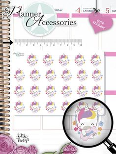 Kawaii Unicorn Stickers Period Stickers Menstrual Stickers