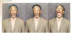 Eden's Jungle: Celebrity photo booth: Morgan Freeman