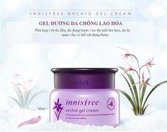 ★ Innisfree Orchid Gel Cream  Giá: 480k  Dung tích: 50ml  Xuất xứ: Hàn Quốc  Kem dưỡng da Innisfree Orchid Gel Cream chiết xuất hoa phong lan kết hợp với các thành phần khác mang đến cho làn da của bạn cảm giác thư giản, căng mịn bất chấp thời gian.    Đặc điểm sản phẩm:  Là một trong những dòng sản phẩm bán chạy nhất của Innisfree hằng năm. Sản phẩm có công dụng cải thiện kết cấu da, ngăn ngừa lão hóa và chăm sóc toàn diện.  • Hoa Phong lan trồng trên đảo Jeju, chúng có sức sống mãnh liệt…