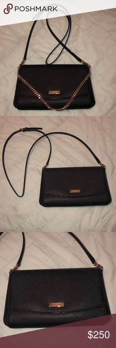 20745118f42 Kate Spade Black Crossbody Purse ♤ Excellent used condition!! Gold chain  that can