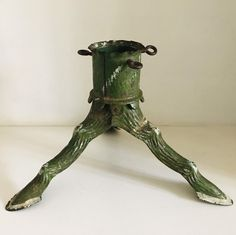 Excited to share this item from my shop: Antique German rustic root Christmas tree stand Father Christmas, Christmas Tree, Xmas Tree Stands, Tree Roots, Antique Metal, Handmade Items, Handmade Gifts, Oil Lamps, Vintage Decor