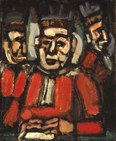 Rouault, Georges, (1871-1958), The Three Judges, 1936, Oil