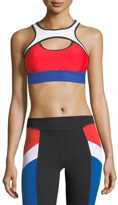 b606e779c0df9 P.E Nation Double Header Crop Performance Sports Bra