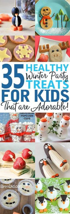 Healthy Party Treats for Kids - Healthy snacks for kids – Cute & Healthy party snacks for kids holiday parties, winter parties, and lunch box surprises. Get the easy recipes today!