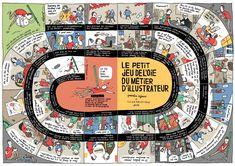 Le petit jeu de l'oie du métier d'illustrateur par Quentin Vijoux > http://www.michellagarde.fr/oeuvre/827/quentin-vijoux-le-petit-jeu-de-l-oie-du-metier-d-illustrateu.html