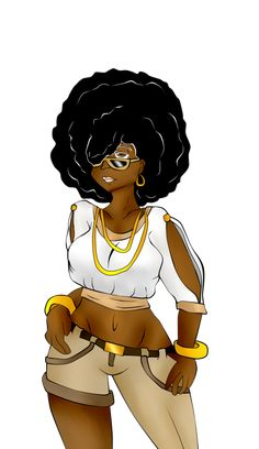 Afro girl by Michilee on DeviantArt Black Love Art, Black Girl Art, Black Girls Rock, Beautiful Black Women, Black Girl Magic, Casual Trendy Outfits, Black Girl Cartoon, Black Art Pictures, Afro Girl