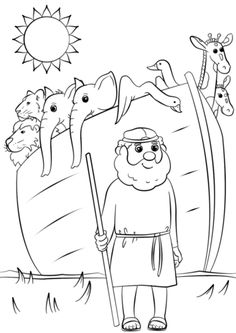 Noahs Ark Animals Two By Coloring Page From Category Select 24848