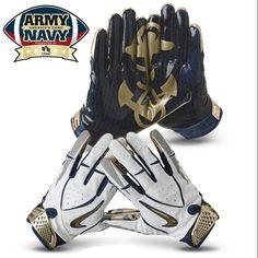 Nike Navy Rivalry Football Gloves