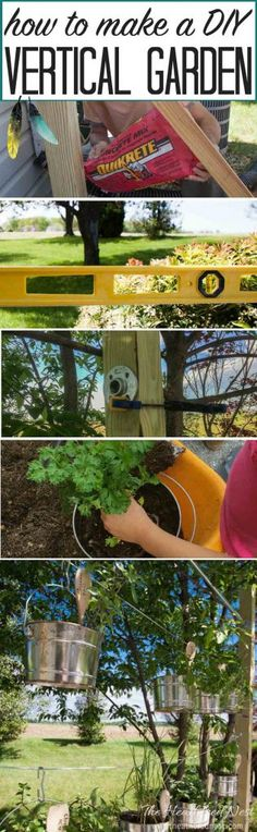 Vertical gardens are SUPER popular right now, and I can see why! LOVE this DIY idea...How to make a DIY vertical garden   vertical garden kit from heatherednest.com