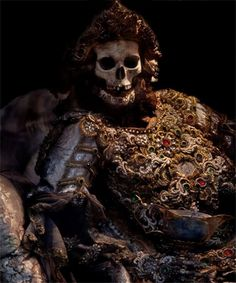 St. Alexander--'Taken from the catacombs of Rome in the 17th century, the relics of twelve martyred saints were then attired in the regalia of the period before being interred in a remote church on the German/Czech border.'