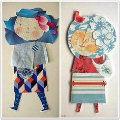 Ana Ventura y sus muñecas de papel.