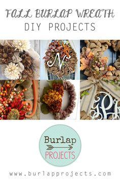 Fall Burlap Wreath DIY Projects