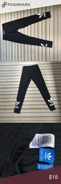 Adidas Leggings Black adidas leggings with logo, size medium Adidas Pants Leggings