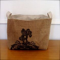 X Large Coffee Sack Basket. $39.99, via Etsy.